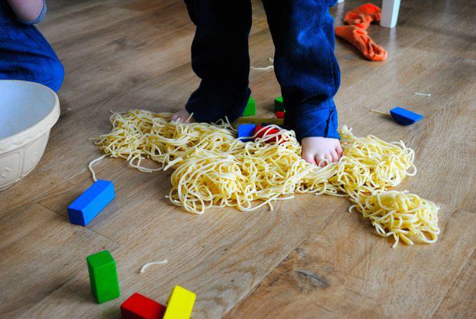 Sensory Toddler Activity Spaghetti Lucky Dip