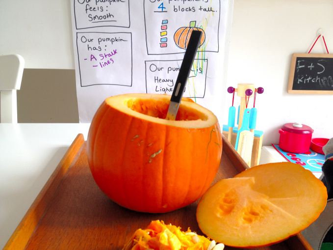 Pumpkin Investigation Chart & Pumpkin Guts Sensory Activity