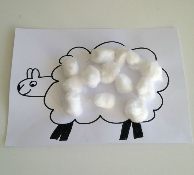 Cotton Wool Lambs Toddler Activity