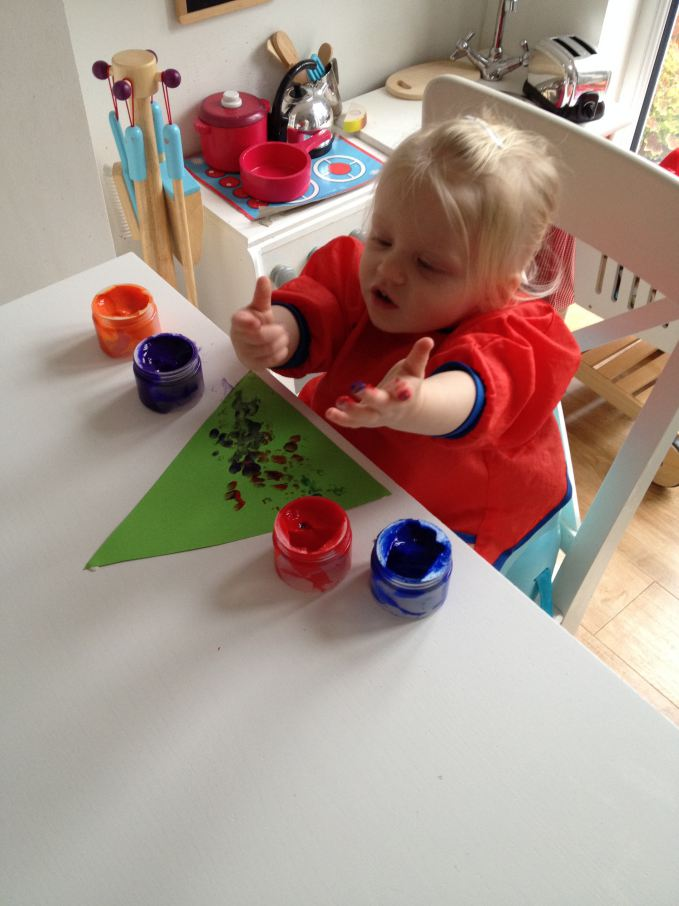 Finger Paint Christmas Tree