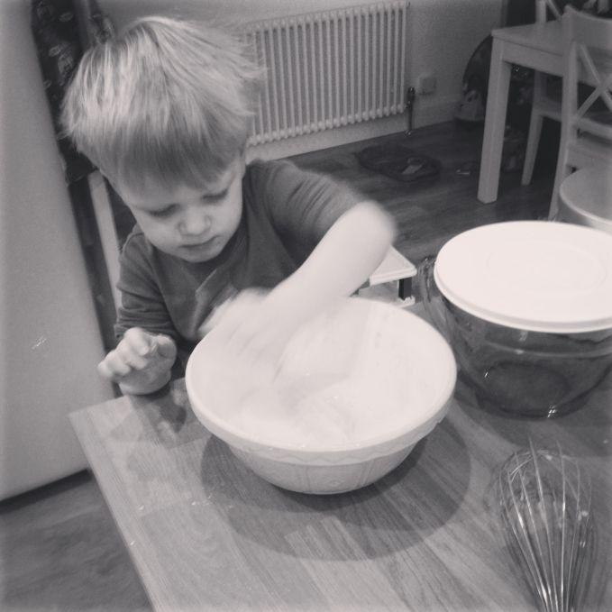 Freddie Making Pancakes