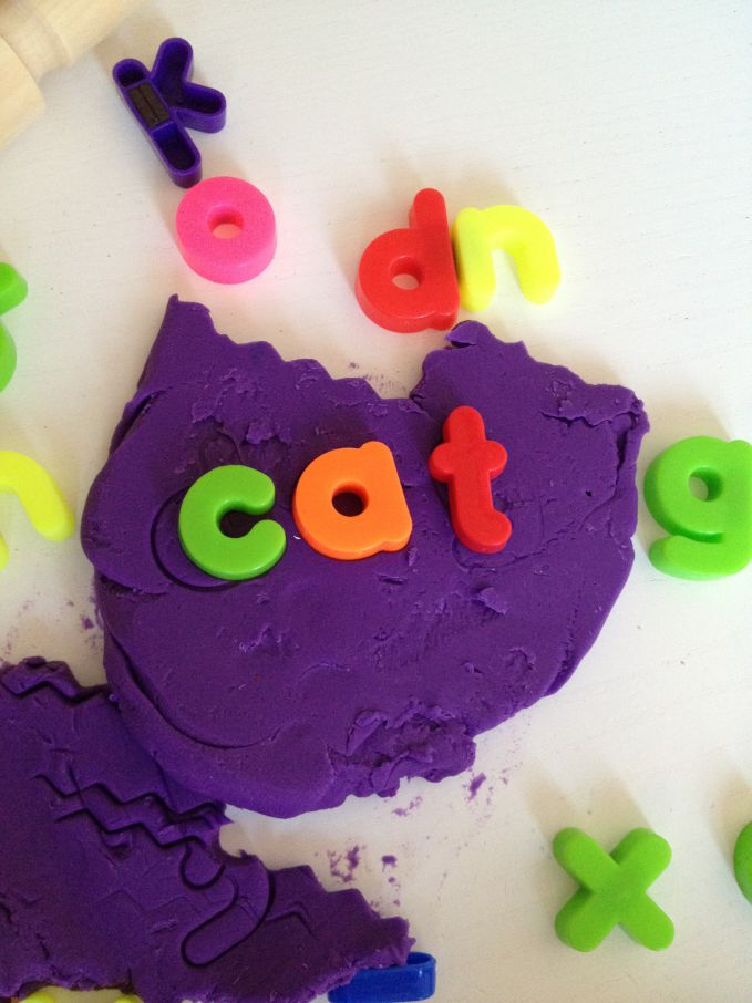 Learning letters with Play-Doh