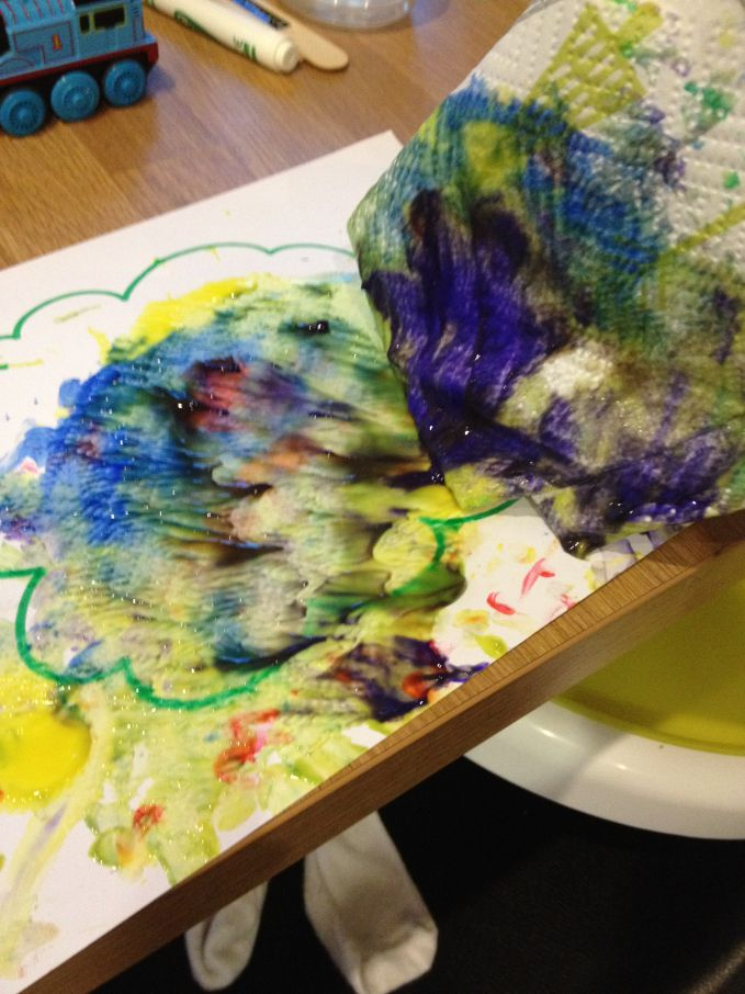 Rainbow Finger Paint Trees