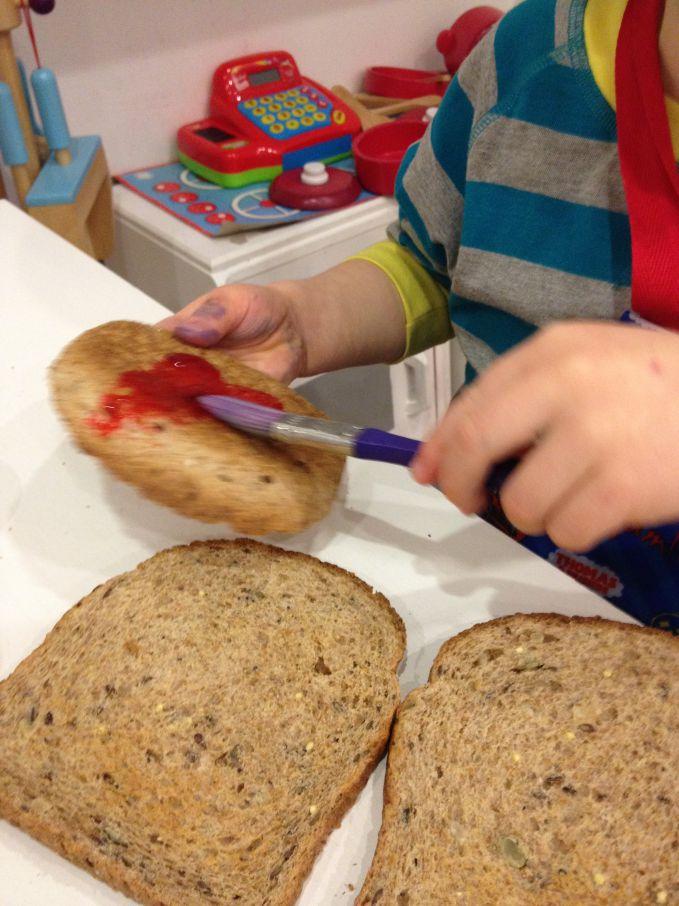 Painting Fillings On Toast