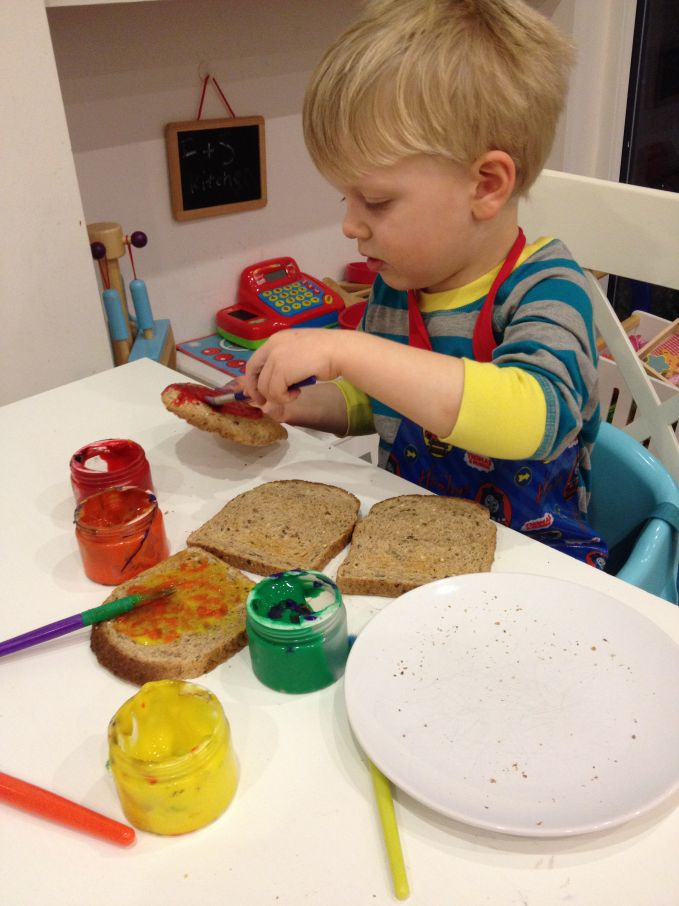 Painting Fillings On Toast