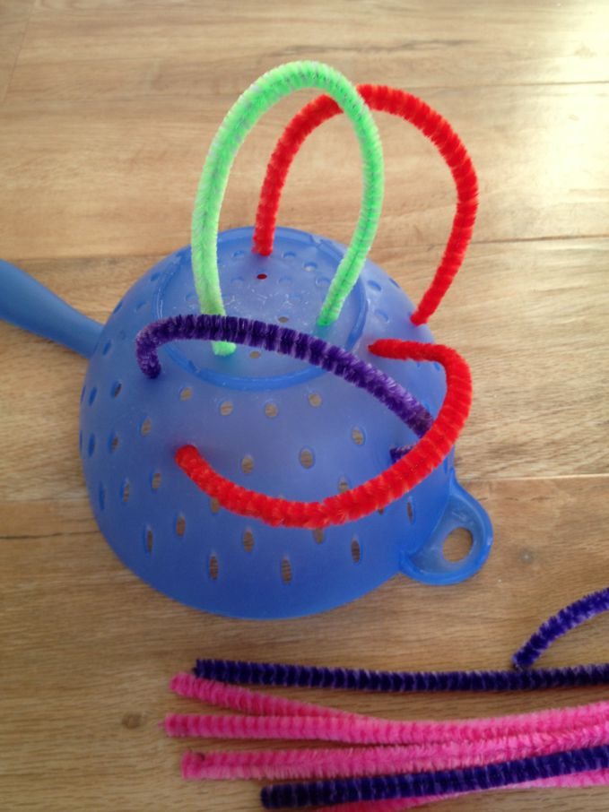 Pipe Cleaners and Colander