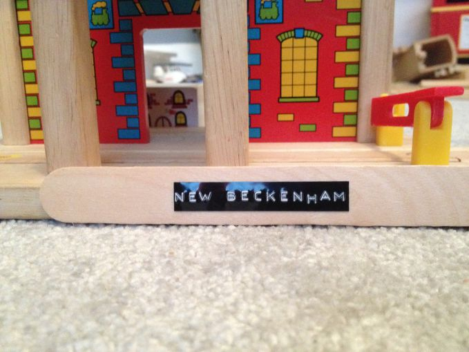 DIY Wooden Train Track Station Signs