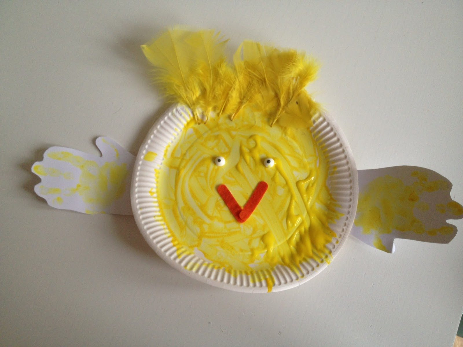 Easter Paper Plate Chicks Craft