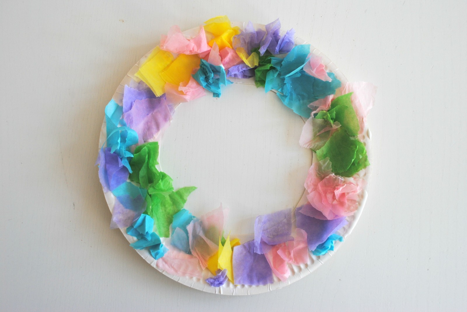 Easy Easter Tissue Paper Wreaths
