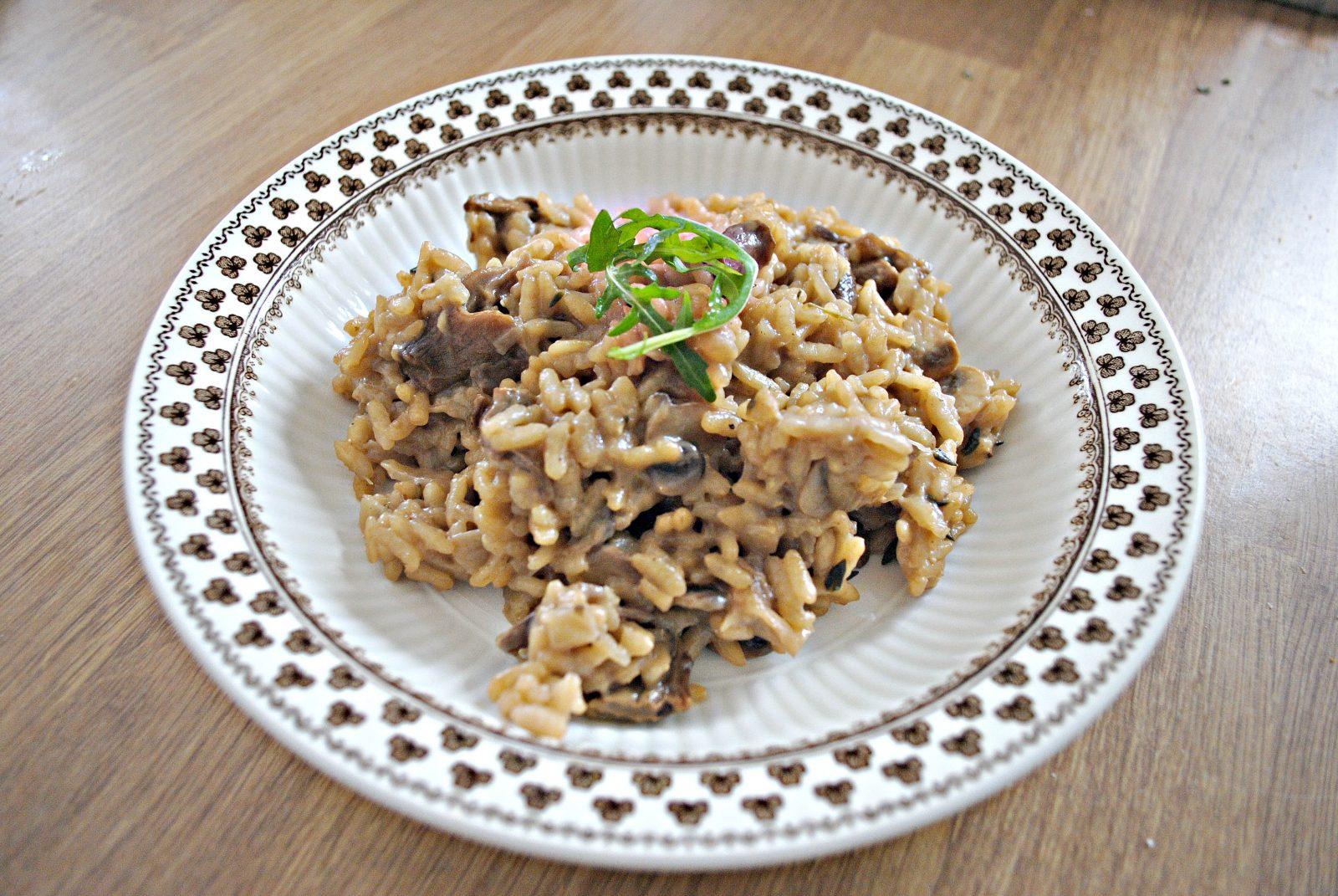 Wonderful Wild Mushroom & Truffle Oil Risotto