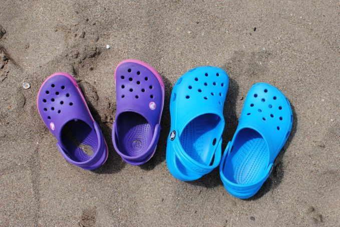 Crocs in the Sand