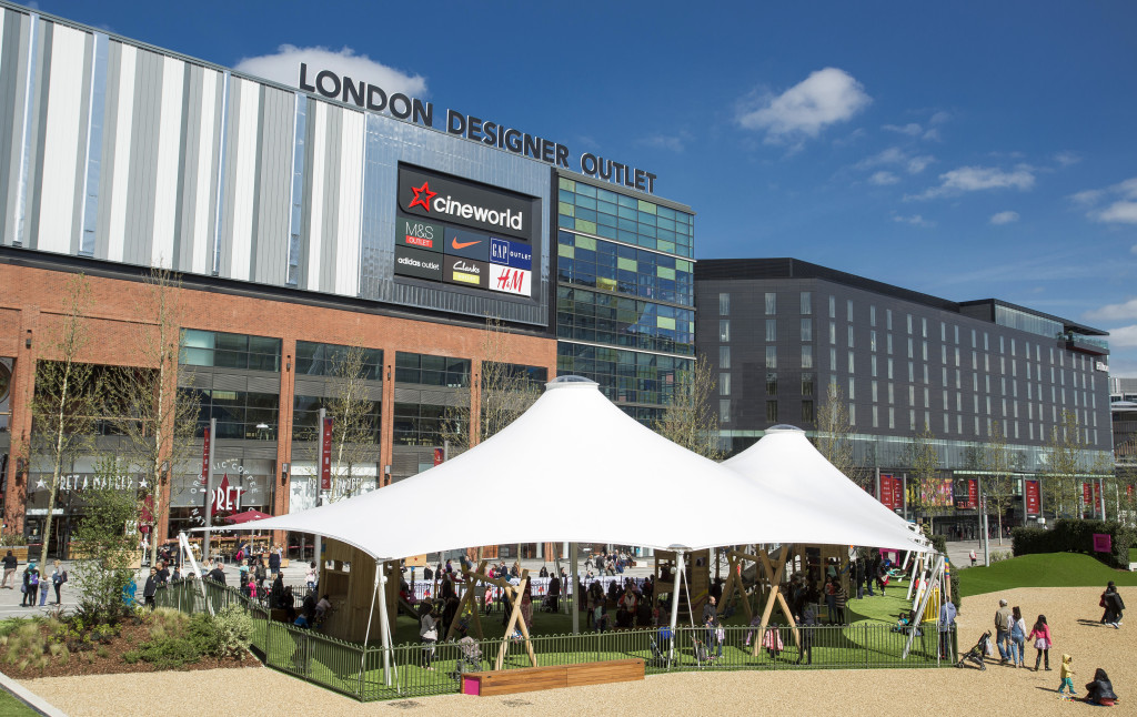 New playground opening at the London Designer Outlet, Wembley, London. Photo: Chris Winter