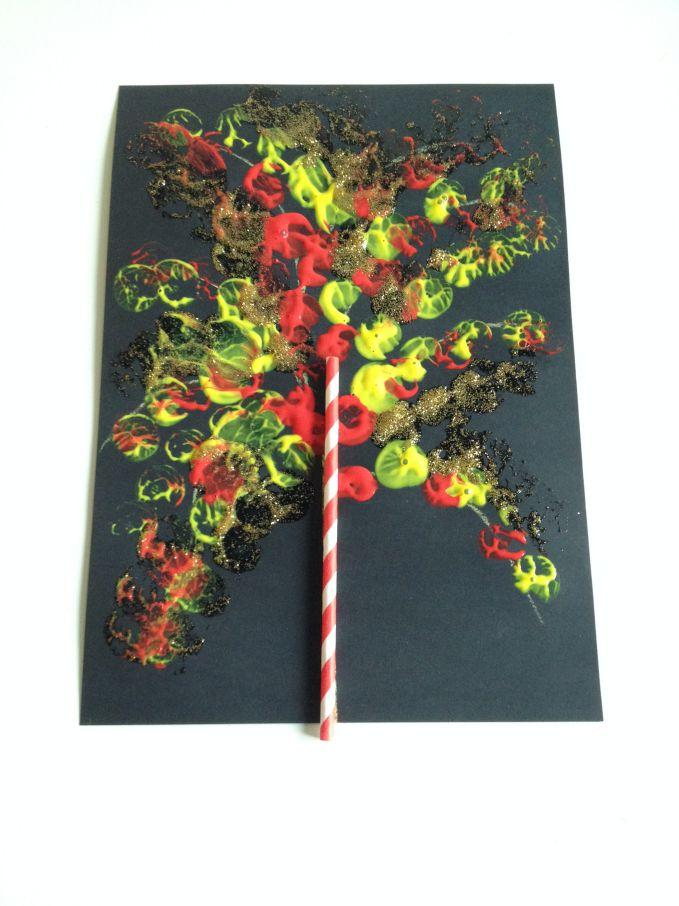 Sparkler Cork Painting
