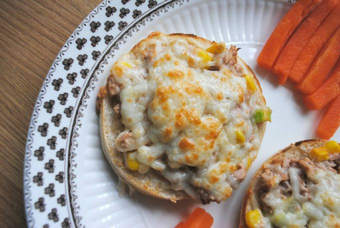 Melted Tuna and Cheese Muffins