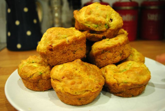 Pancetta, Manchego and Courgette Muffins