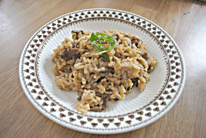 Wild Mushroom and Truffle Oil Risotto