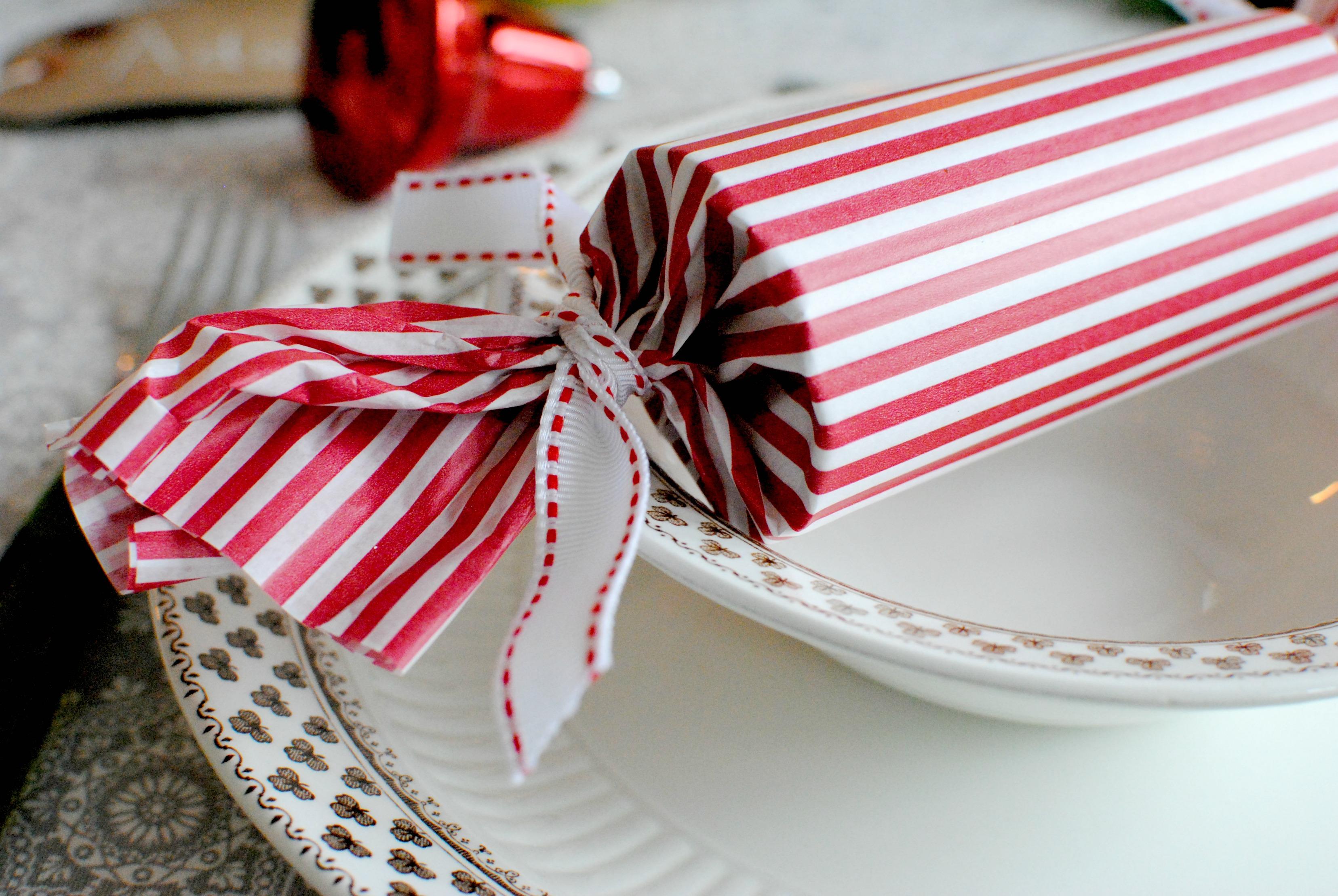 homemade Christmas cracker