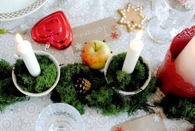 Easy Nordic-inspired Christmas table styling