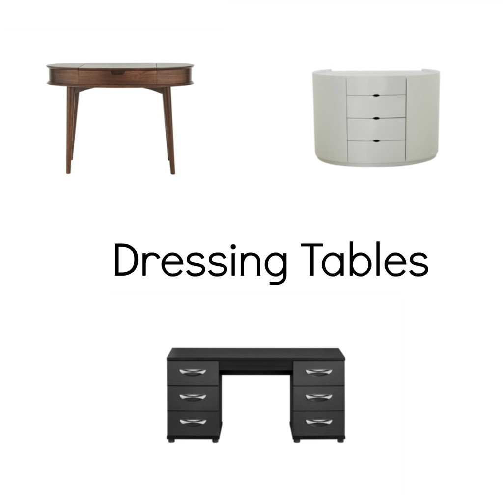 dressing tables collage