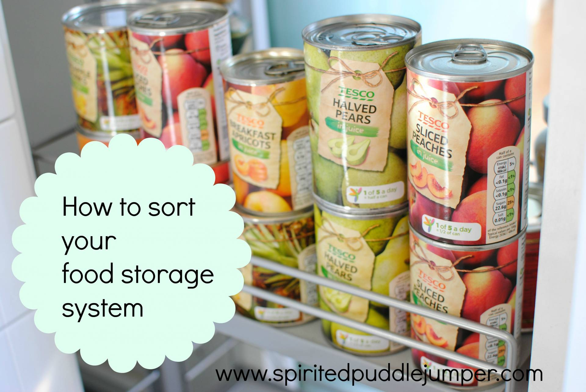 The declutter diaries – Food Storage