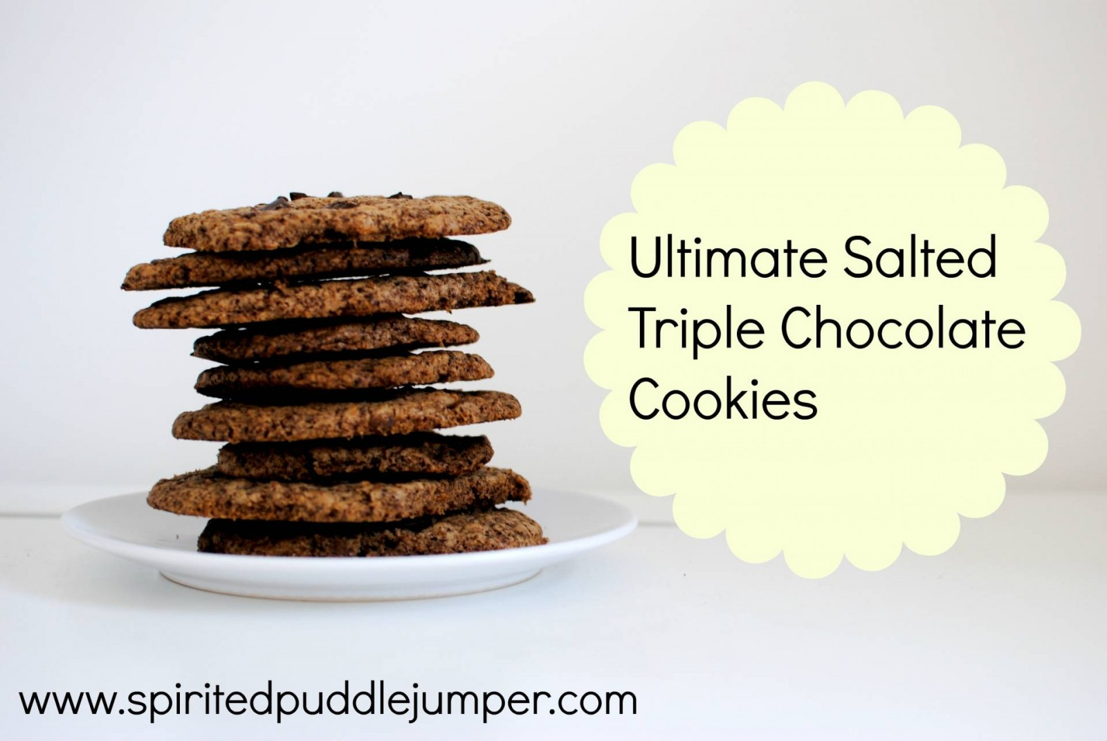 Salted Triple Chocolate Brownie Cookies Recipe — Dishmaps