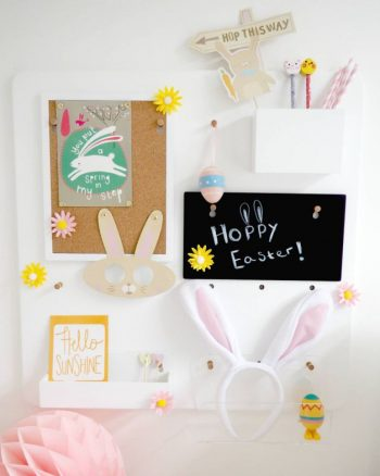 Easter Pegboard Styling
