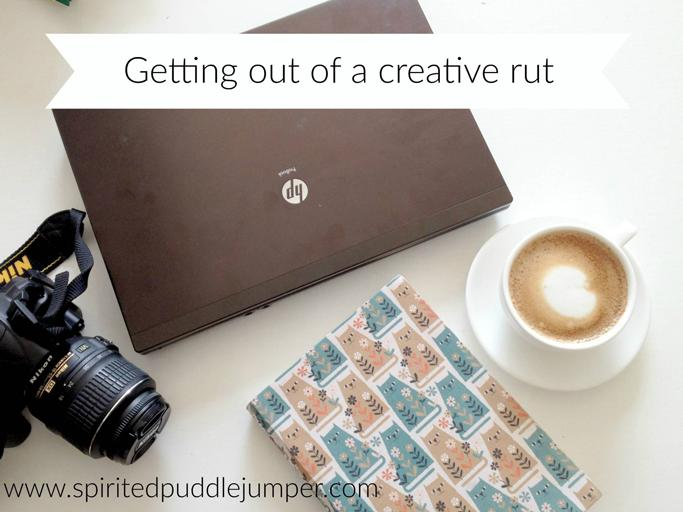 Getting out of a creative rut