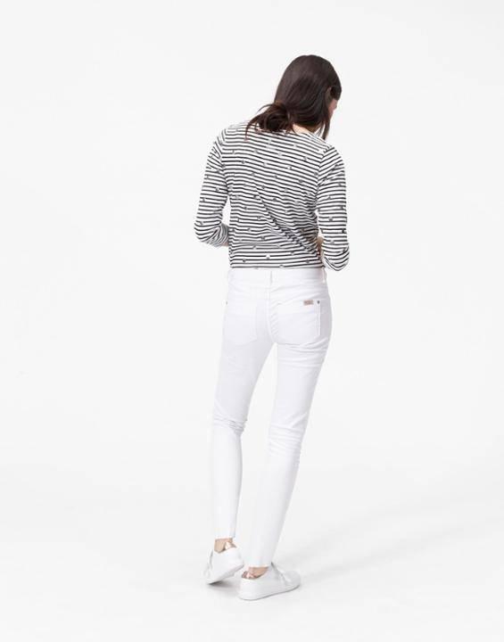 Loren skinny white jean