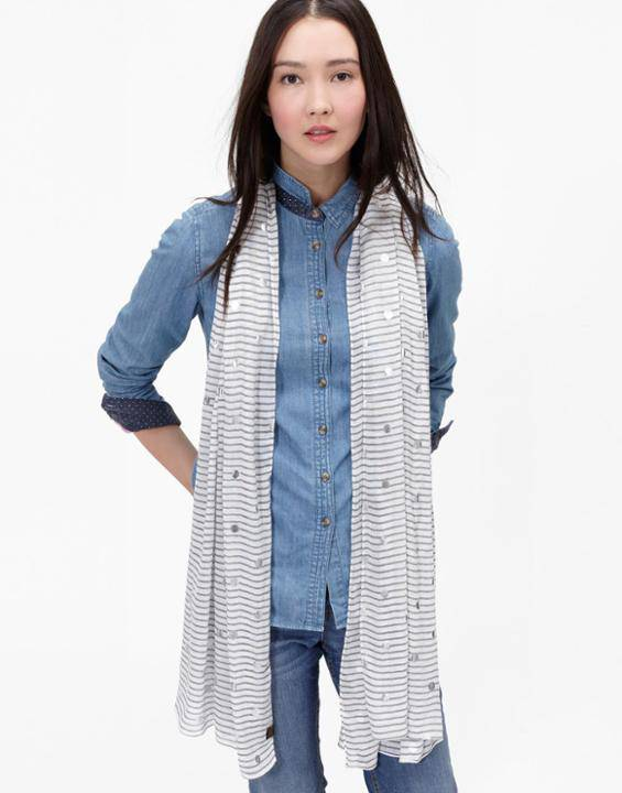 Orna foil printed scarf