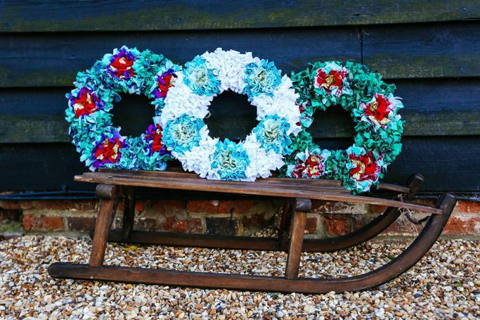 Rag Rug Wreaths
