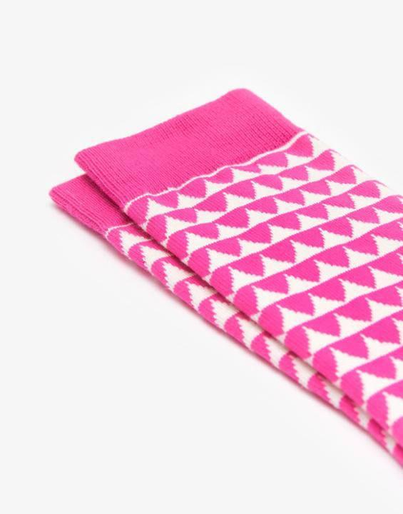 graphic strip socks