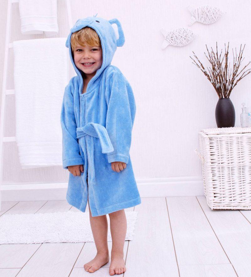 Elephant Children's Towelling Robe