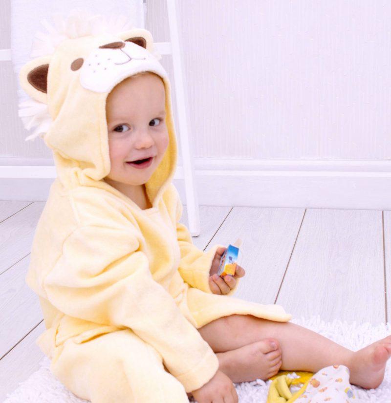 Lion Children's Towelling Robe 1