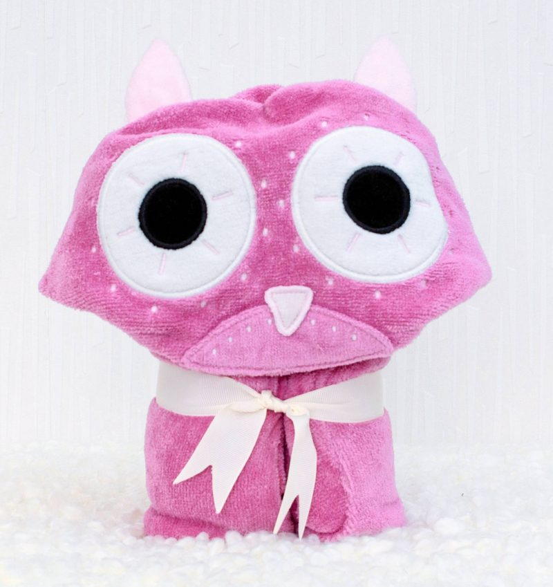 Owl Children's Towelling Robe Product Alone (1)