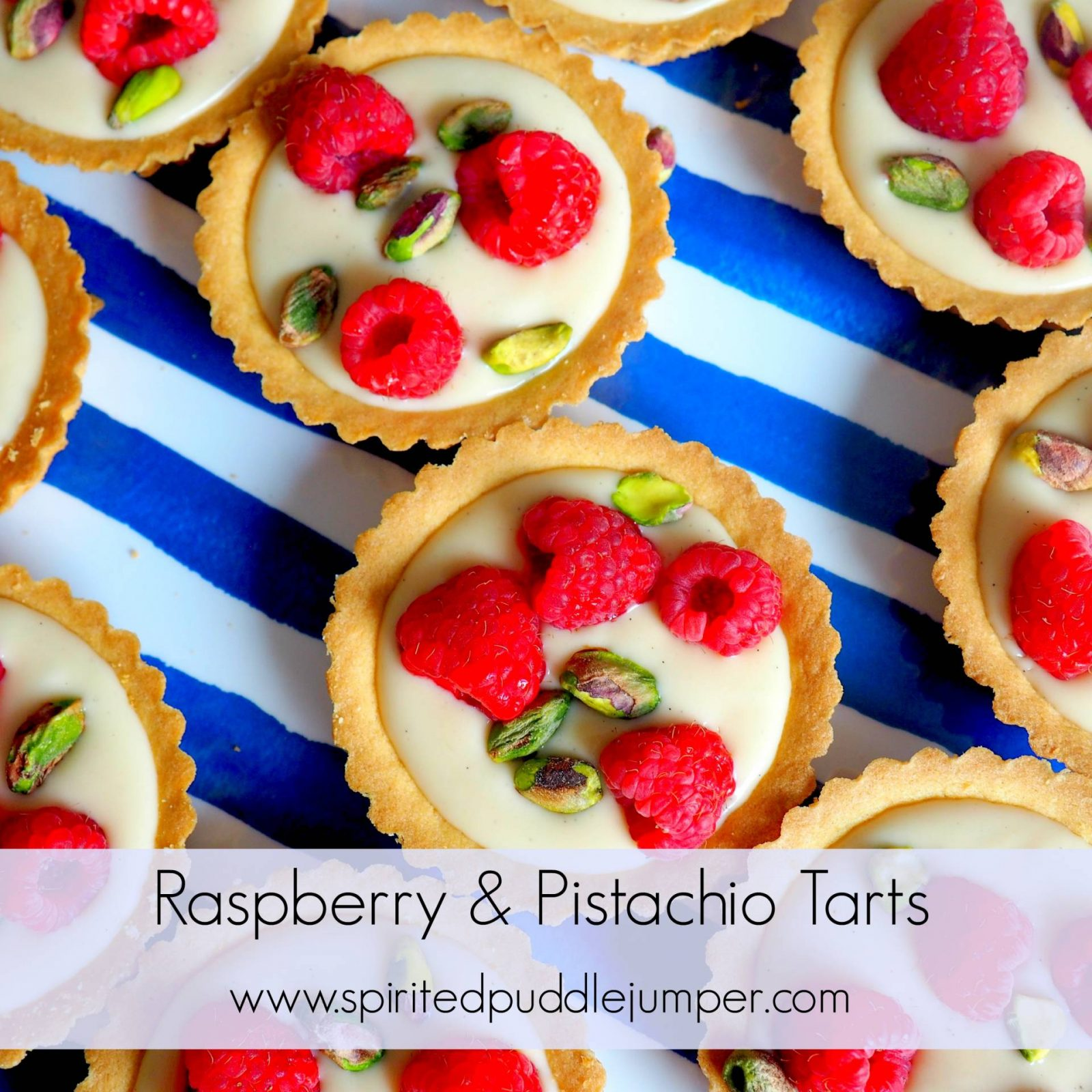 Raspberry and Pistachio Tarts