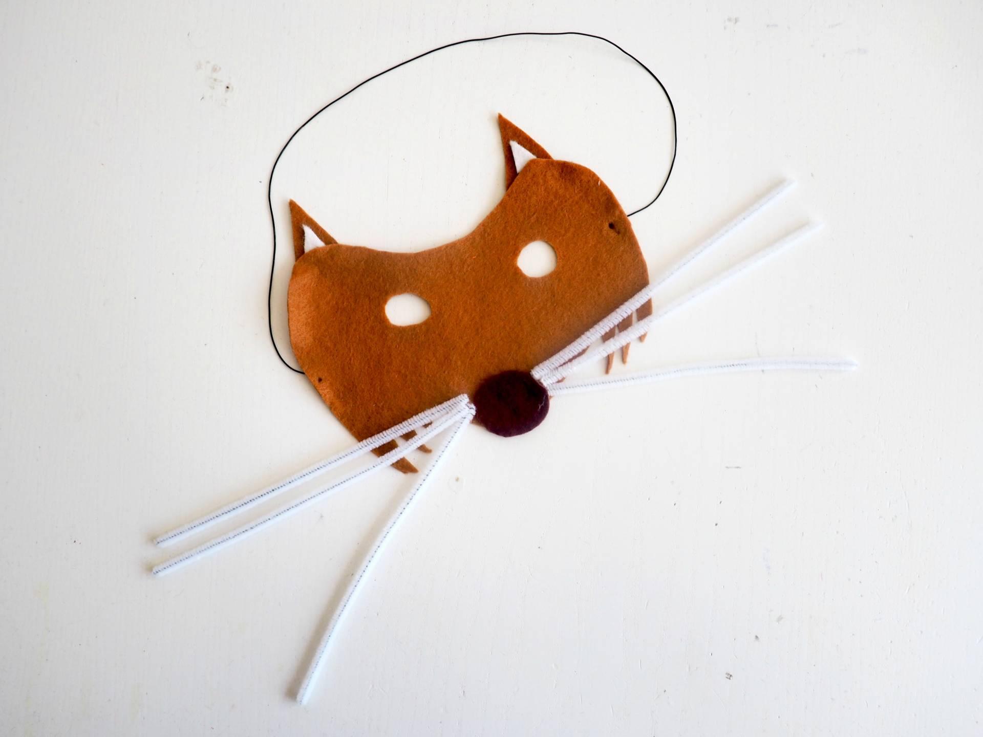 How to make a felt fox mask