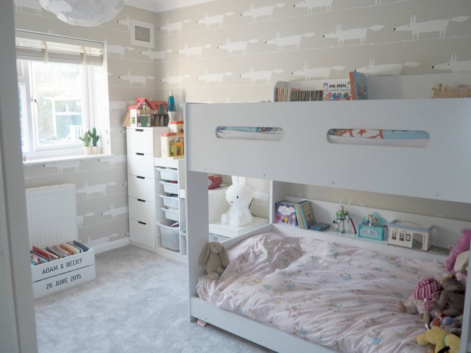 A Unisex shared bedroom