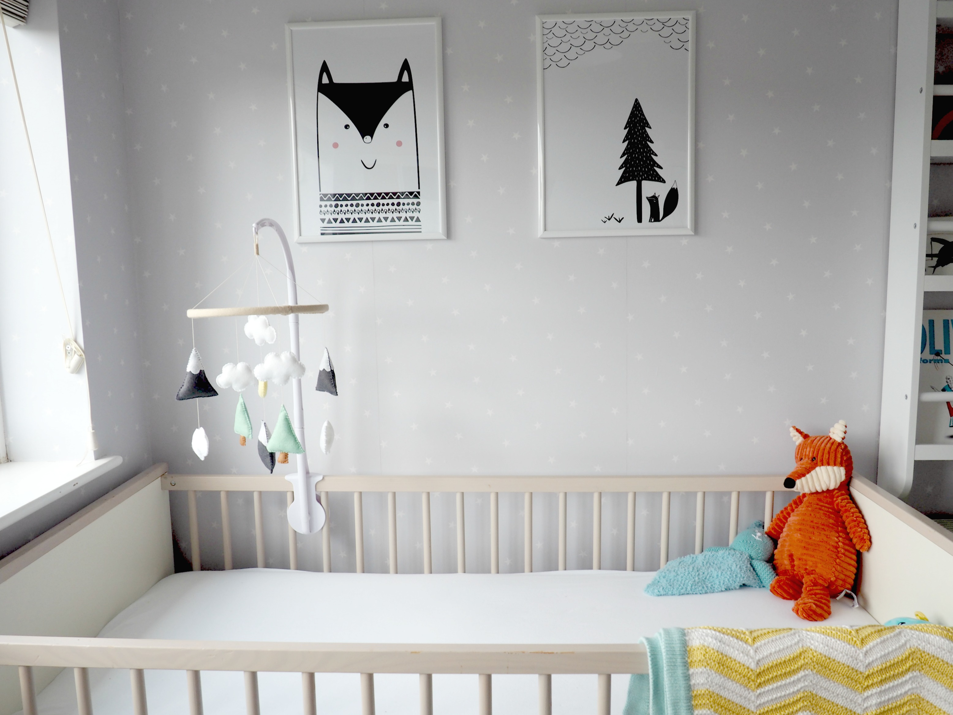 A Grey and Yellow Scandi-Themed Nursery