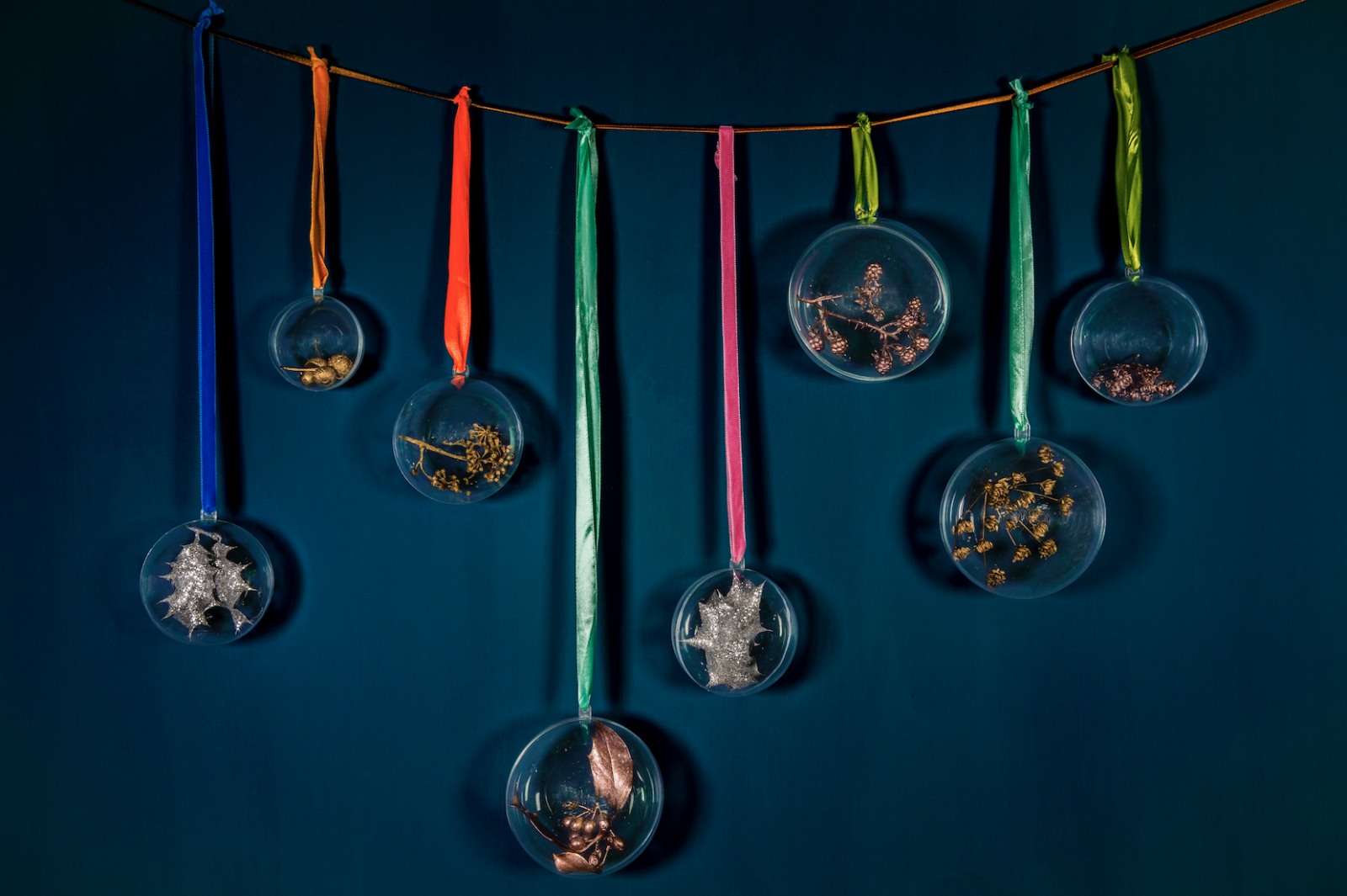 DIY Scandi Christmas Baubles