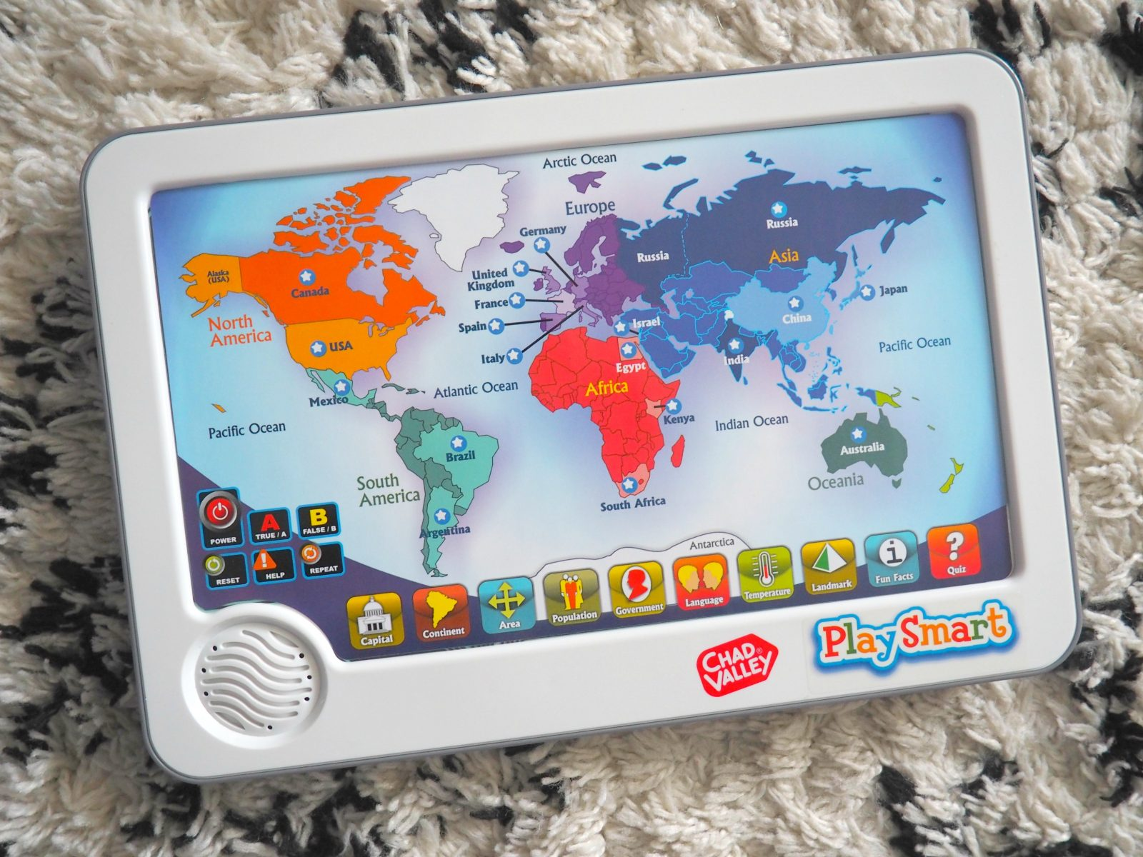 chad valley playsmart interactive touch pad world map. Black Bedroom Furniture Sets. Home Design Ideas