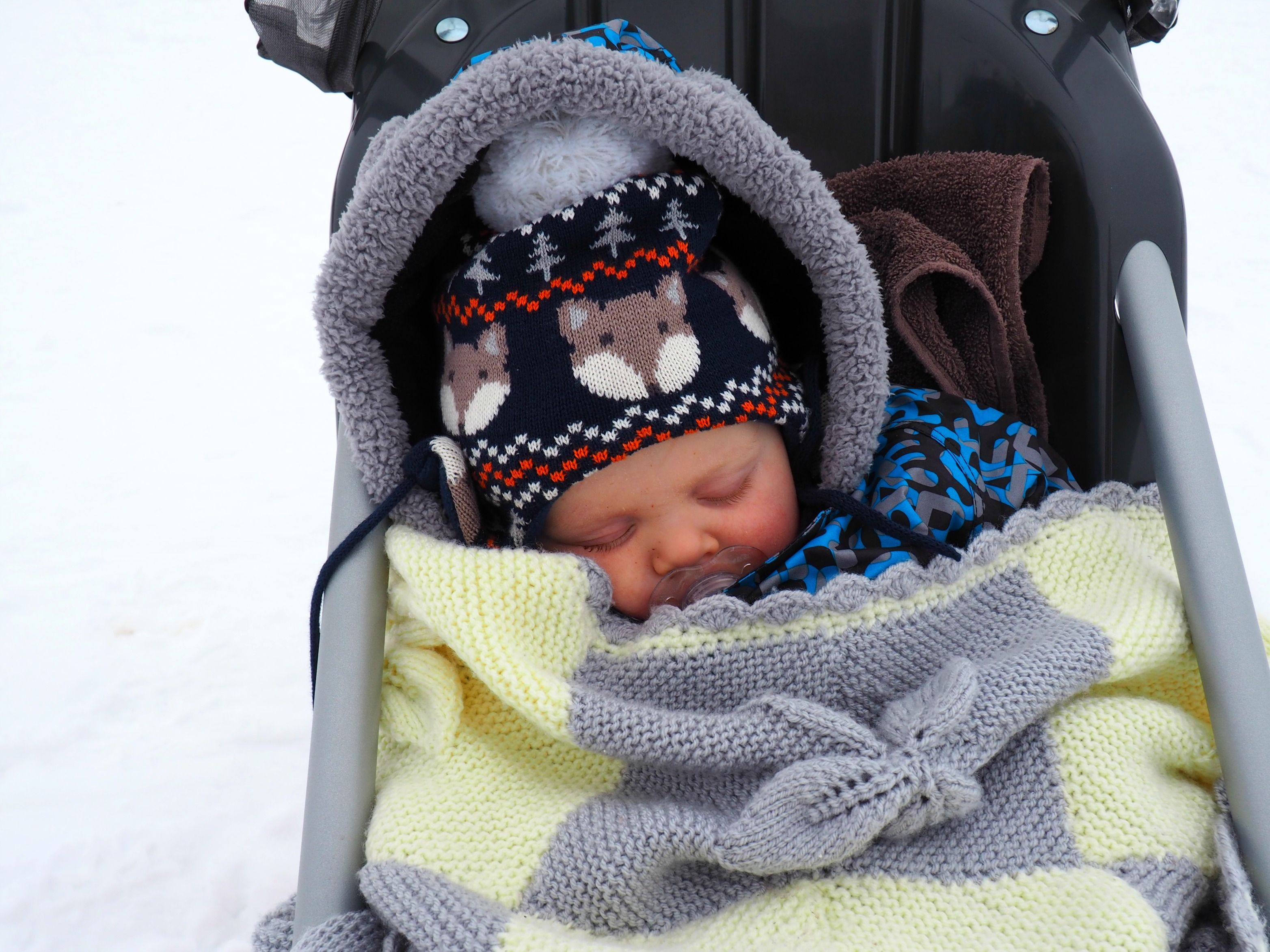 taking a baby skiing