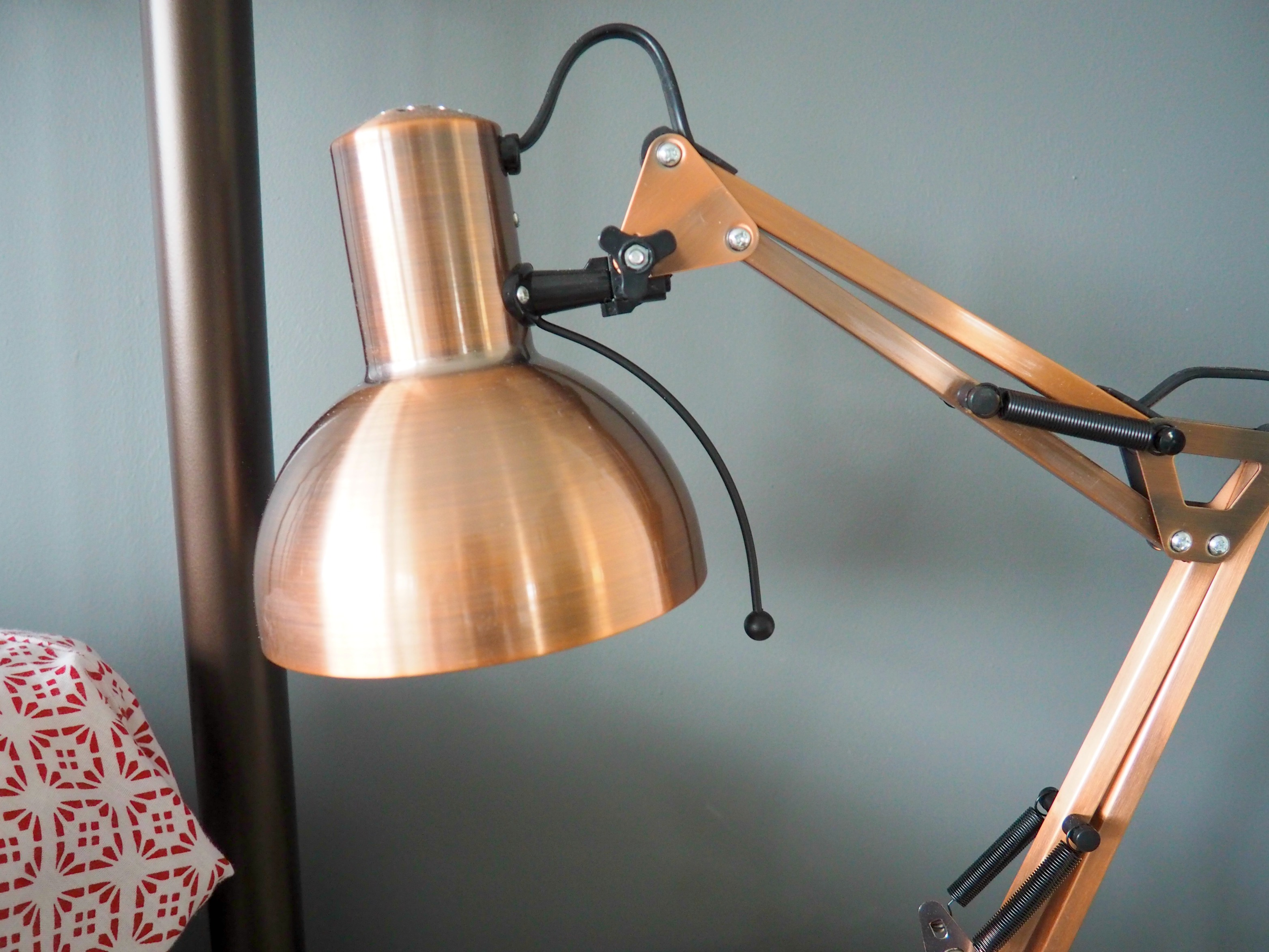 copper bedside lamp