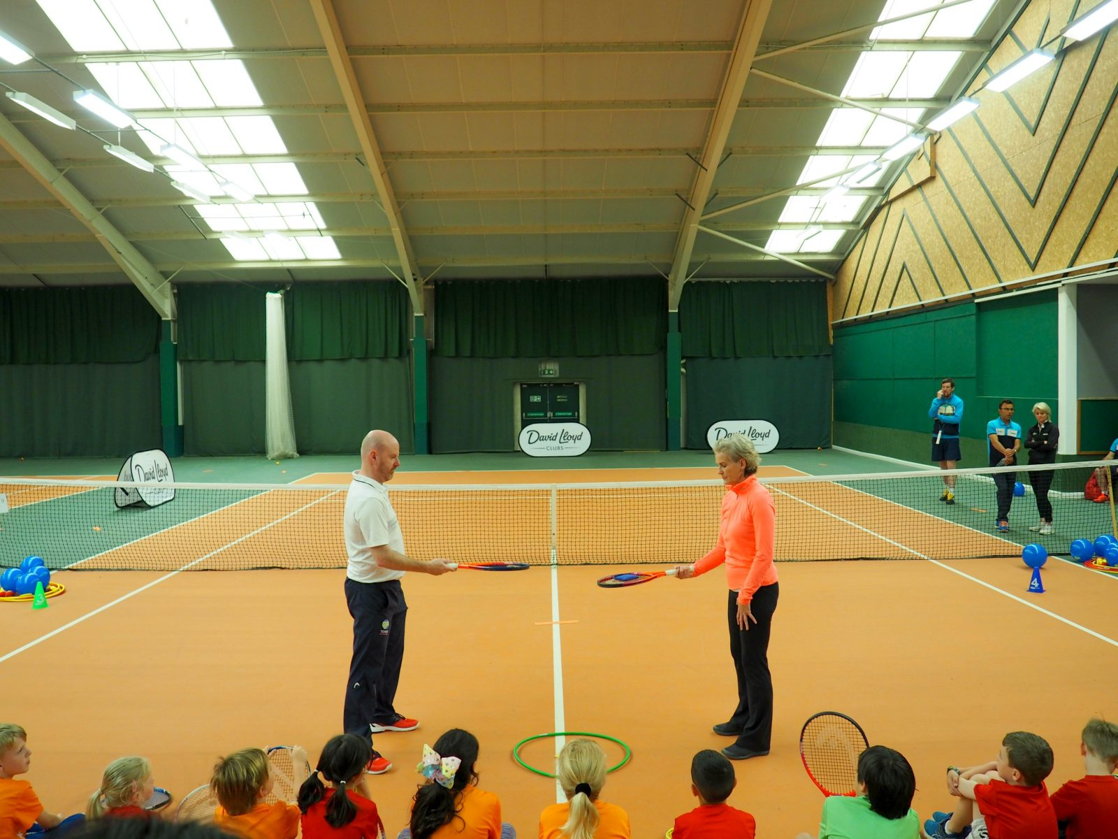 Perfecting our tennis skills with Judy Murray OBE and David Lloyd Clubs