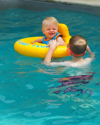 tips for swimming with a baby
