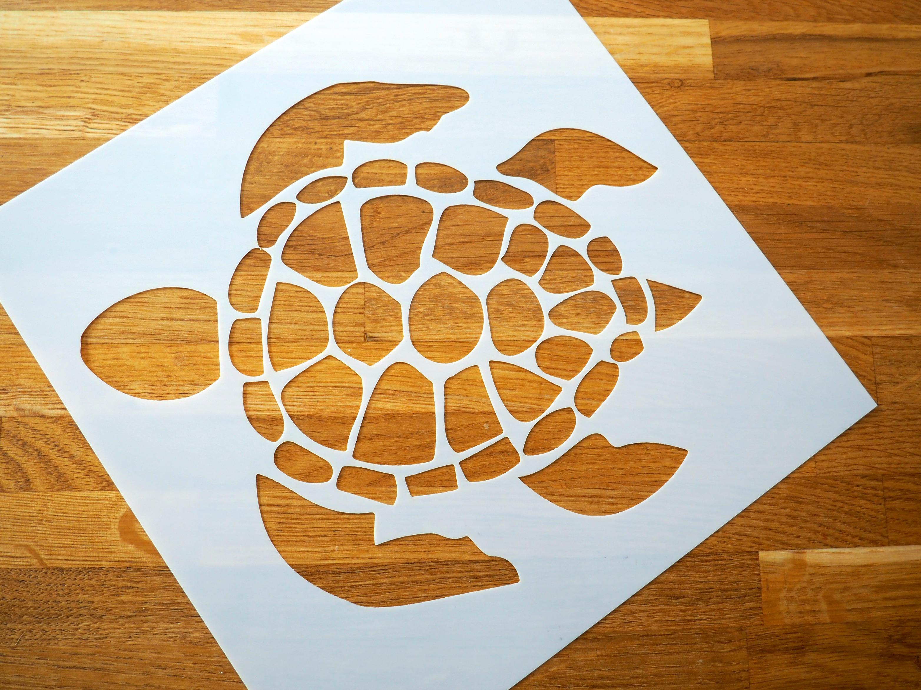 turtle stencil from Stencil Revolution