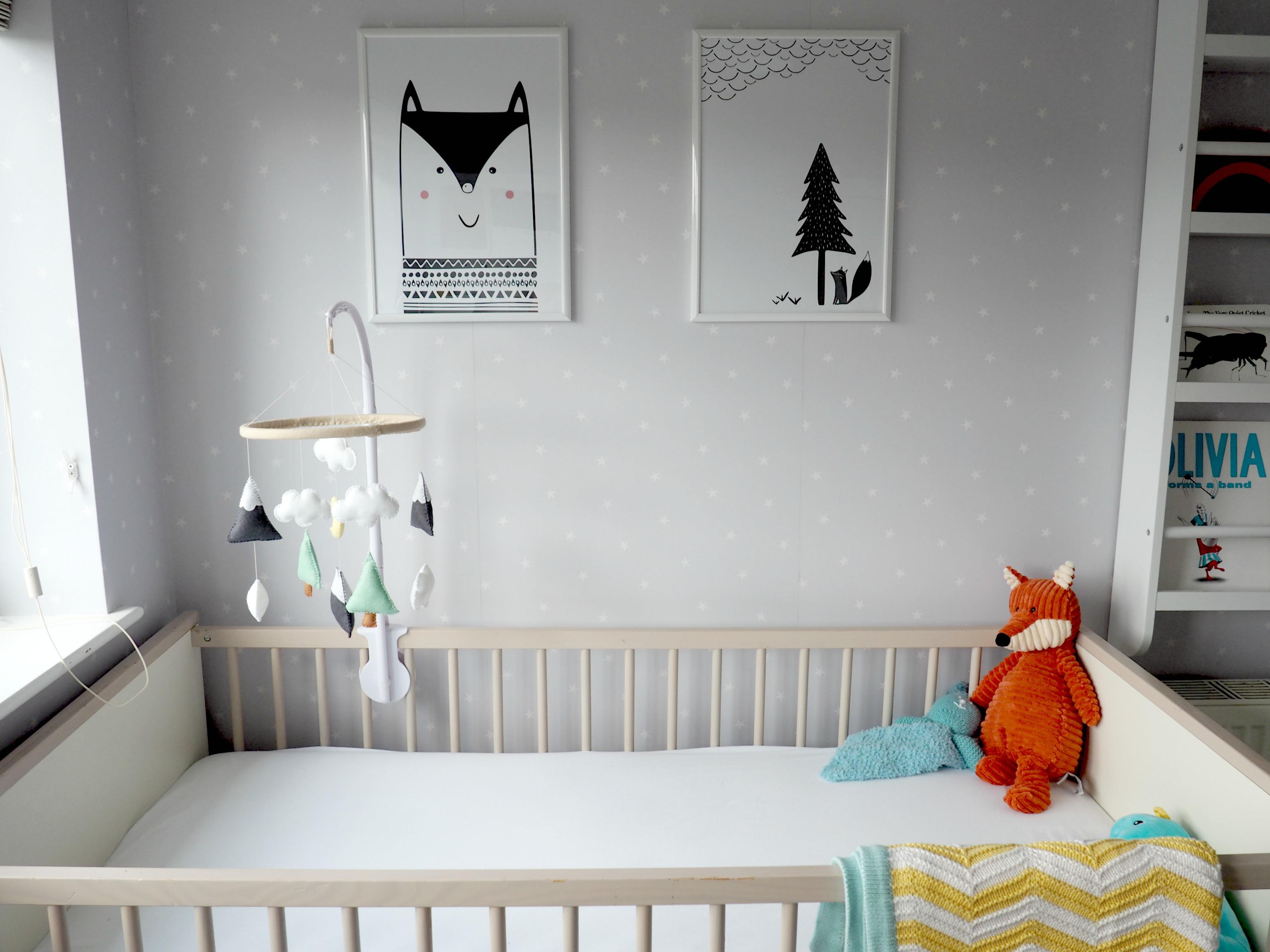 scandi style prints nursery