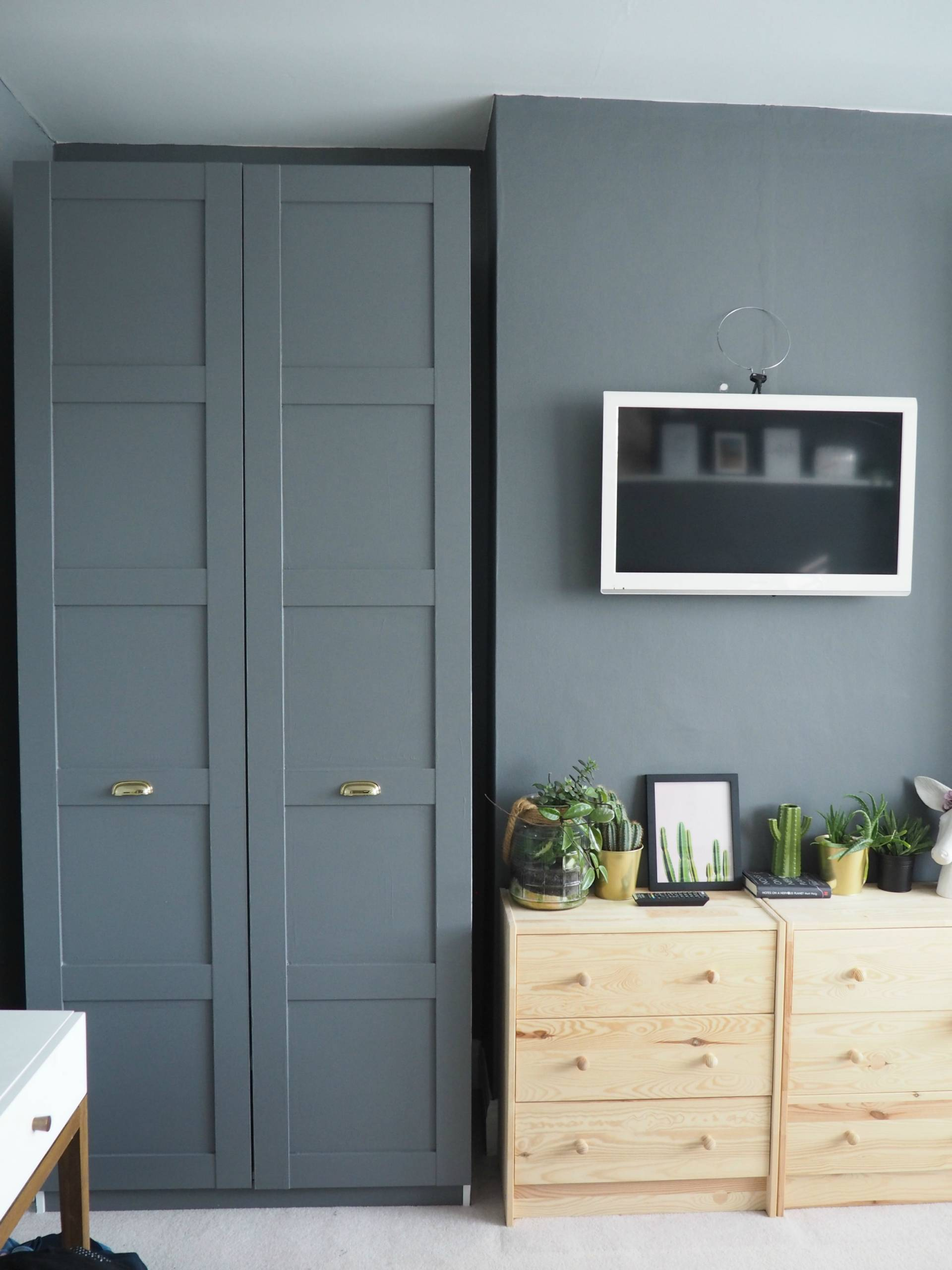 Grey Ikea Pax wardrobe hack