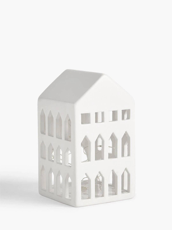 john lewis ceramic christmas house