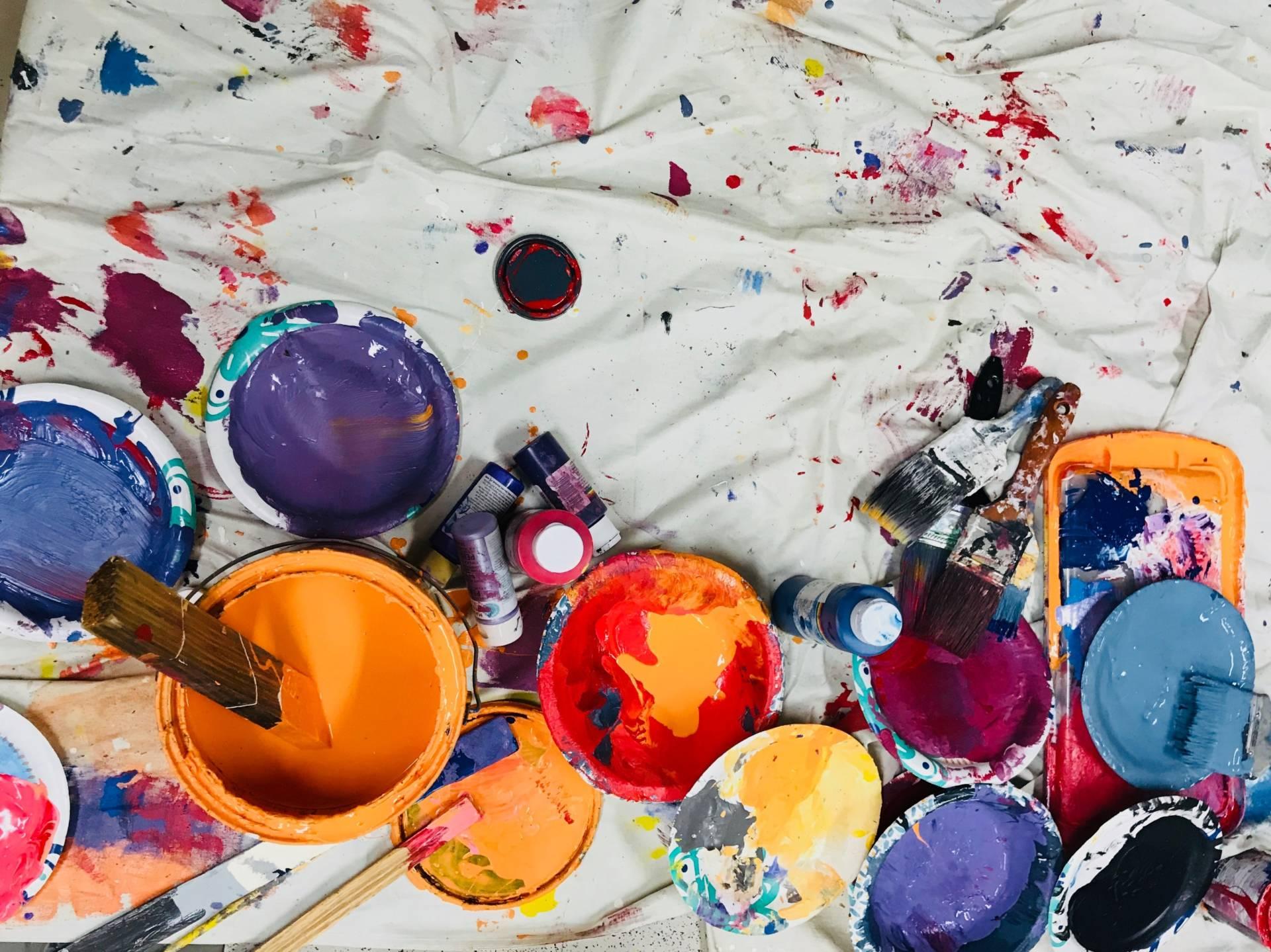 pots of paint