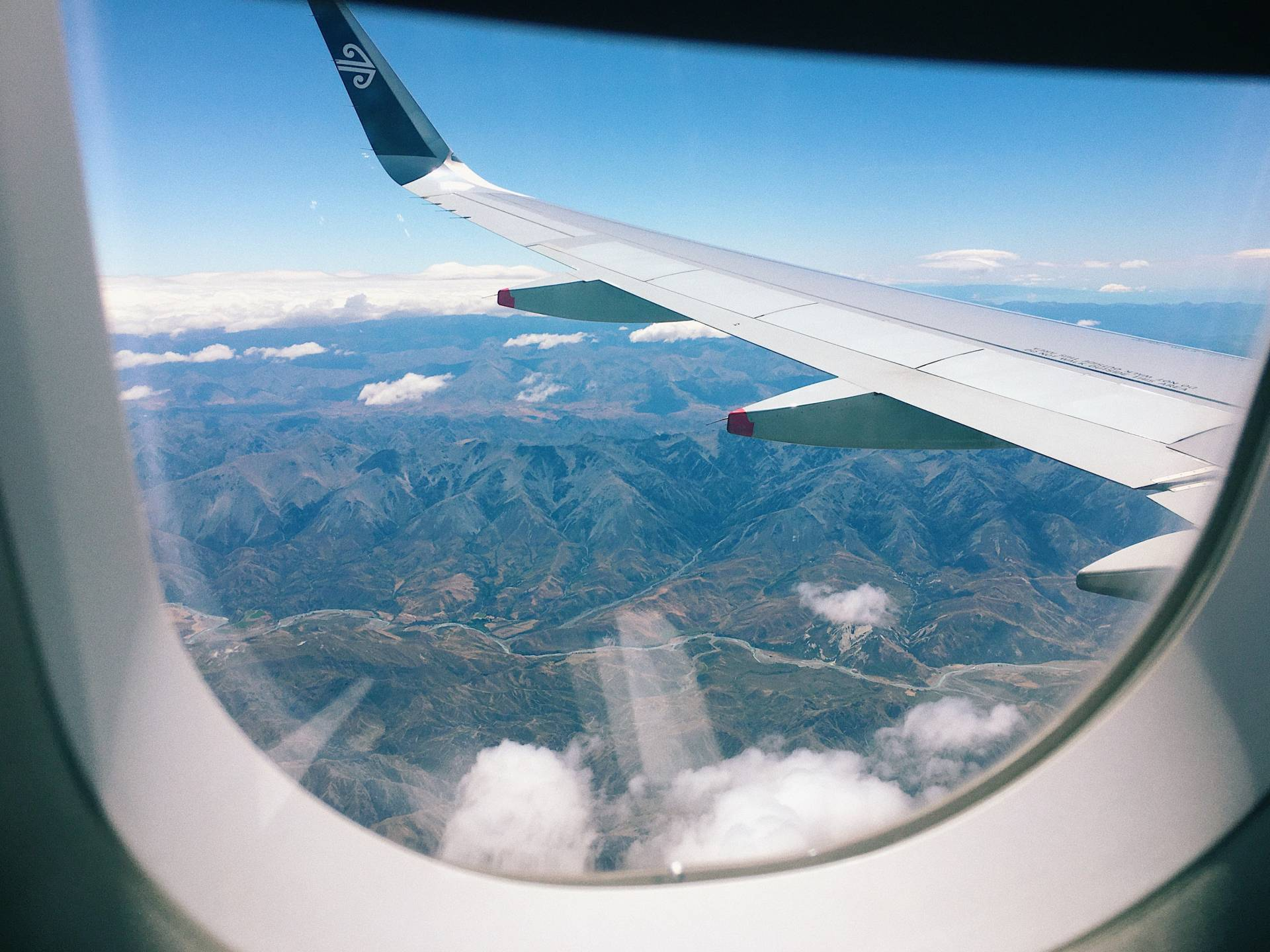 plane window and wing